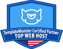 TemplateMonster Certified Partner Top Web Host Award